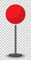 lege ronde rode verkeersbanner