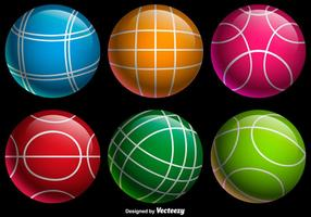 Vector Kleur Bocce Ballen