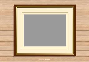 Fotolijst op houten achtergrond vector