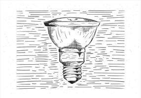 Vrije Hand getekende Vector Lightbulb Illustratie