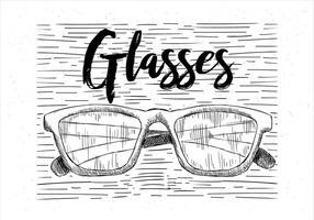 Gratis Vector Hand getekende glazen illustratie