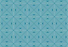 geometrisch wit en blauw optische illusie naadloos patroon