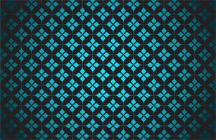 gloeiend blauw sterpatroon op zwart