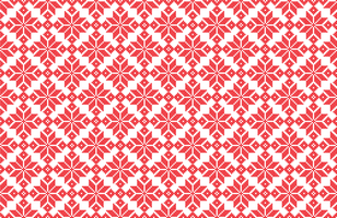Kerstmissneeuwvlok pixelpatroon