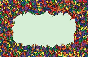 kleurrijk bladerenkader met exemplaarruimte