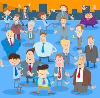 zakenlieden of mannen stripfiguren groep