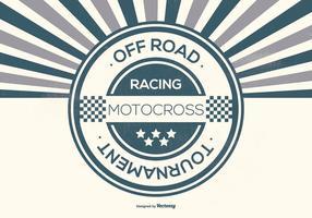 Retro Offroad Racing Achtergrond Illustratie vector