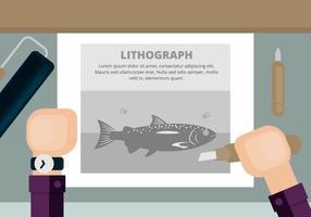 Lithografie Illustratie vector