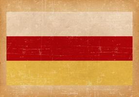 Grunge Vlag van Noord-Ossetië vector