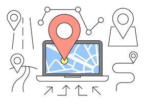 Gratis Lineaire Navigatie Pictogrammen vector