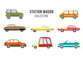 Gratis Vintage Station Wagon Vector