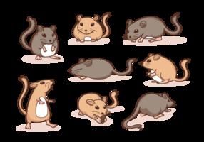 Gerbil cartoon vector