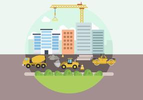 Platte bouwplaatsvectoren vector
