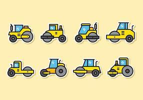 Leuke Road Roller Icons vector