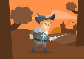 Musketeer Illustratie vector