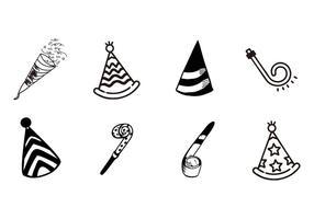 Gratis hand getekende partij of viering objecten vector