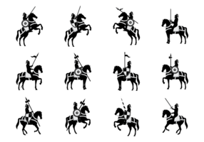 Vector silhouetten van de Cavalerie
