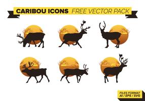 Caribou Pictogrammen Gratis Vector Pack