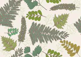 Naadloze Bloemen In Gravure Style vector