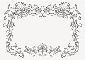 Bloemen Vintage Filigree Border vector