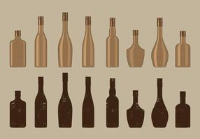 Vintage Wijnflescollectie vector
