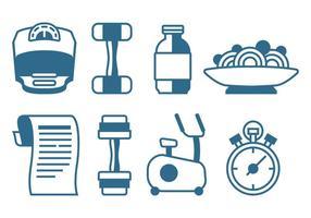 Gezonde levensstijl iconen