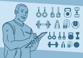 Fitness Gewichtheffen Pictogrammen