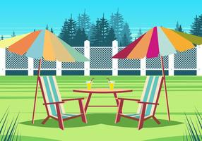 Lawn Chair In The Park vector