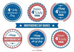 Onafhankelijkheidsdag badge collectie vector