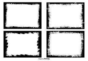 Grunge foto randen collectie vector