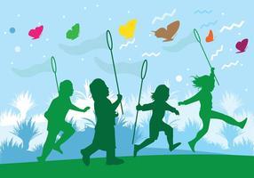 Kinderen spelen illustratie