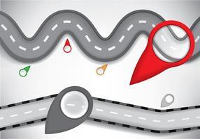 Routekaart infografische elementen