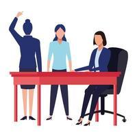 zakenmensen die samenwerken