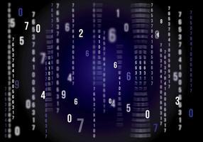 Matrix Vector Achtergrond Donkerblauw