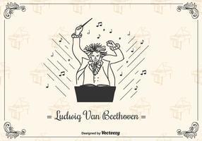 Beethoven Vector Achtergrond