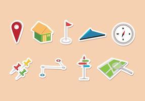 Navigatie pictogrammen voor de routekaart vector
