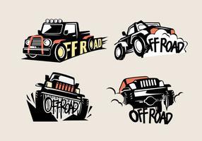 Zet Off-road Suv Logos op een witte achtergrond vector