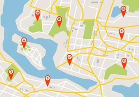 Kaart van de routekaart vector