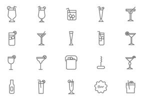 Gratis Mocktail Vectors