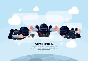 Skydiving Illustratie