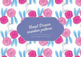 Hand getrokken rozen vector patroon