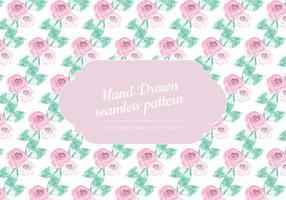 Delicate Roses Vector Patroon