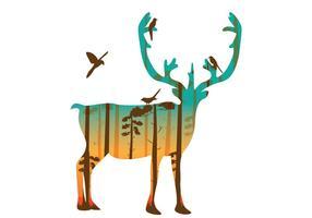 Dubbele blootstelling van Caribou vector