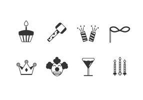 Verjaardagspartij set iconen vector