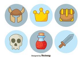 Handgetekende RPG-elementvectoren