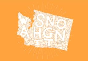 Washington State Lettering vector
