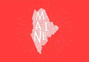 Maine state lettering vector