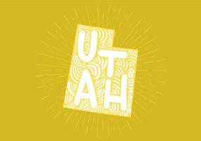 Utah State Lettering vector