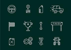 Offroad wedstrijd iconen vector