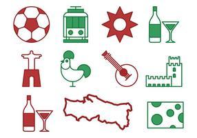 Portugal Pictogrammen vector